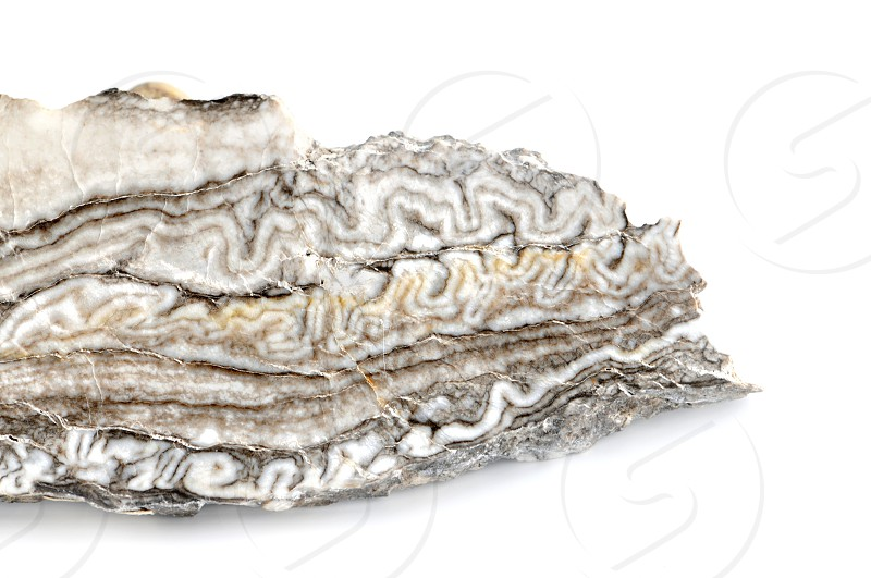 white grey alabaster agate on isolated background photo