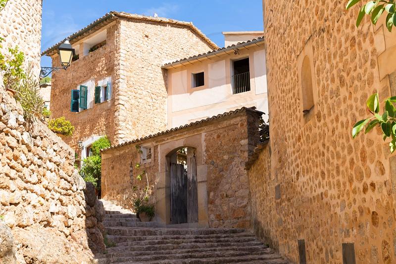 Fornalutx village in Majorca Balearic island Mallorca spain photo