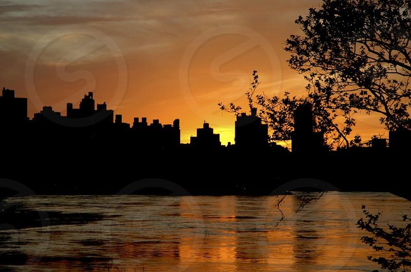 Sunset on Manhattan photo