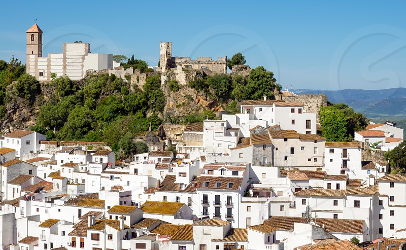 CASARES ANDALUCIA/SPAIN - MAY 5 : View of Casares in Spain on May 5 2014 photo