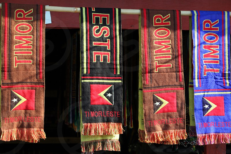 timor souveniers at the Market in the city of Dili in the east of East Timor in southeastasia.