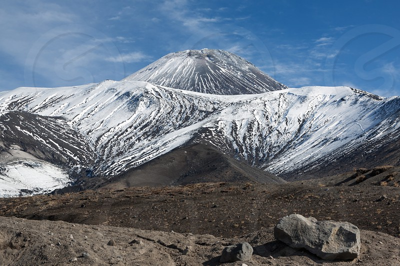 Beautiful volcanic landscape of Kamchatka: Avachinsky Volcano - active volcano. Russia Far East. photo
