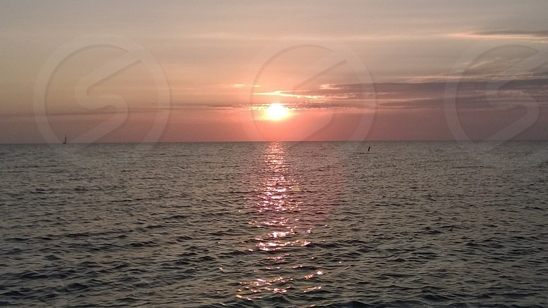 Siesta beach sunset Sarasota FL  photo
