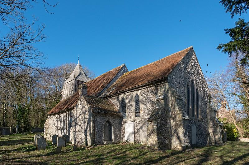 FOLKINGTON EAST SUSSEX/UK - JANUARY 28 : The Church of St Peter ad Vincula in Folkington East Sussex on January 28 2019 photo