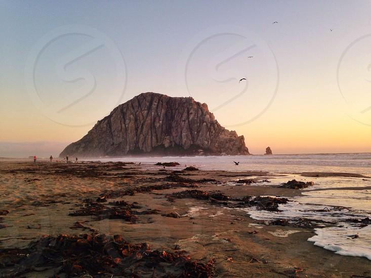 mountain across sea view  photo