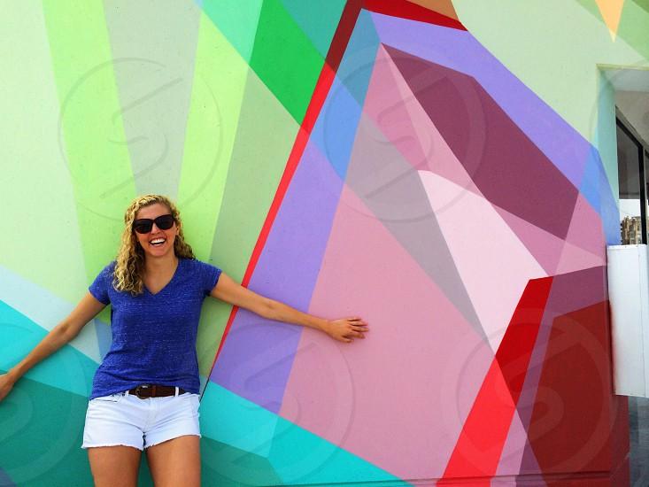 fun Detroit art colors blonde beautiful photo