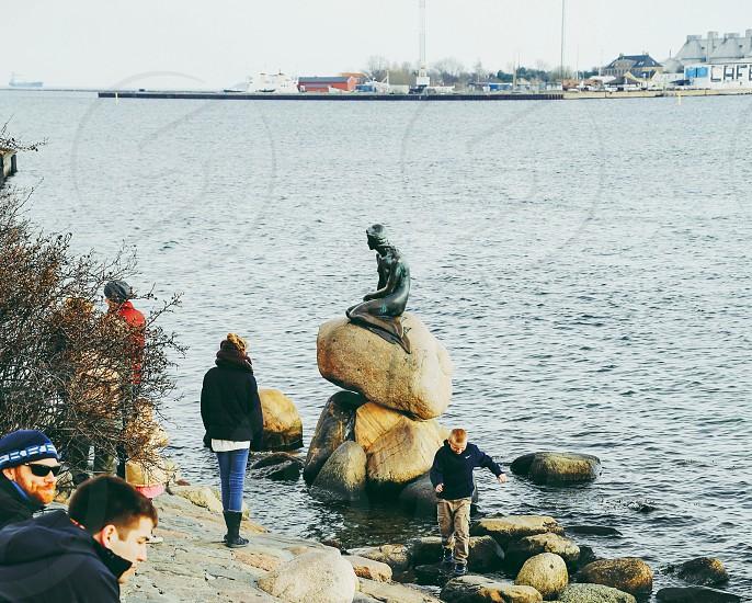 Langelinie  Copenhagen  Denmark  Den Lille Havfrue photo