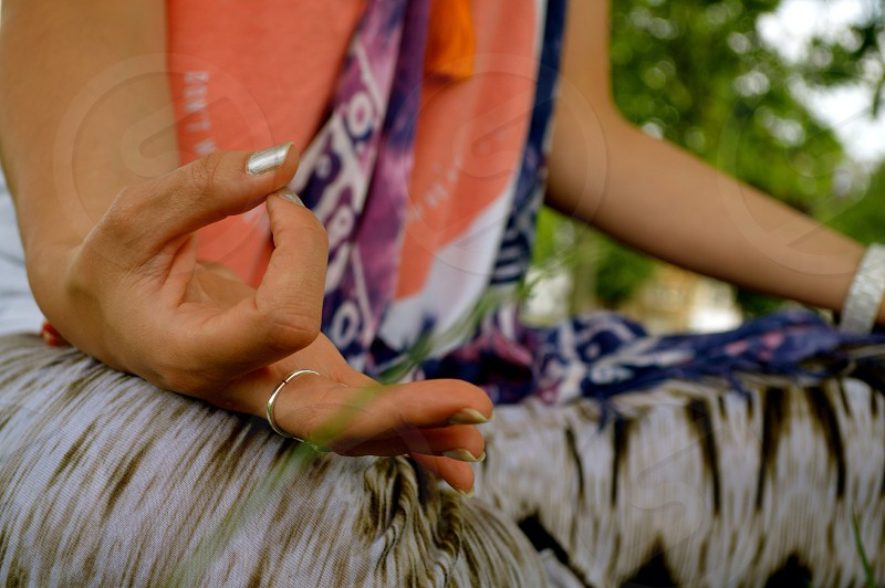 Yoga. Mudra. Asana. Meditation.  photo