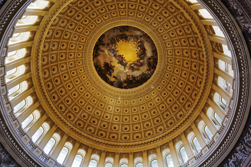 Washinton D.C. Usa october 2016: interior of the Washington capitol hill dome Rotunda photo