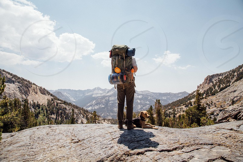 backpacking in the sierras photo