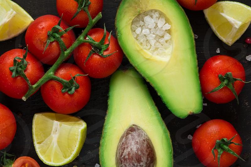 avocado tomatoes lime photo