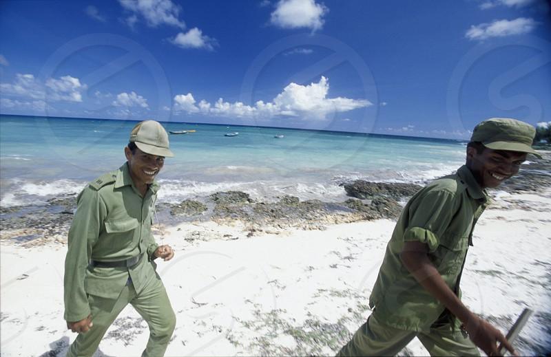 a beach on the coast of Varadero on Cuba in the caribbean sea. photo