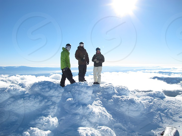 Blue bird day at Mt. Bachelor ski resort photo