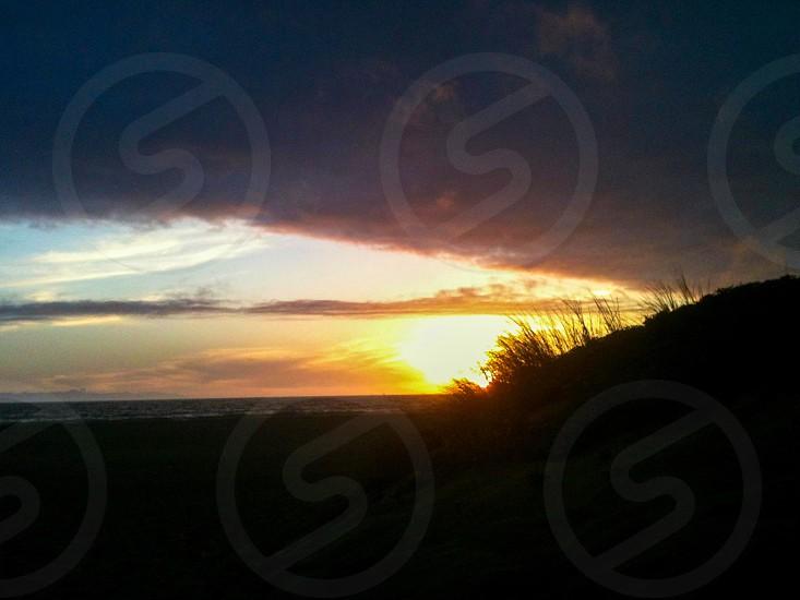 Sunset at Oxnard Shore photo