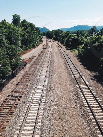 brown train rail road photo