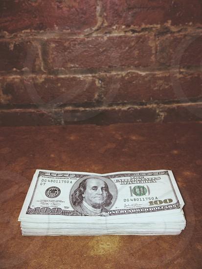 american 100 dollar bill photo