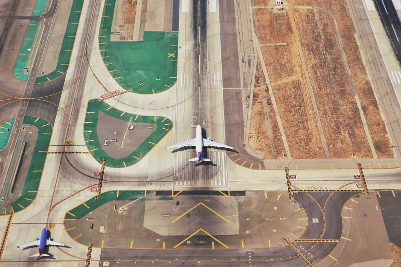 Aerial view of LAX photo