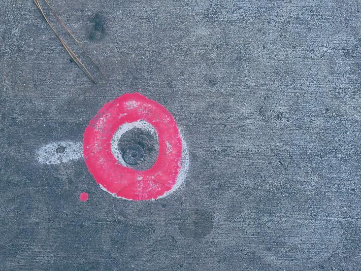 pink white round illustration photo