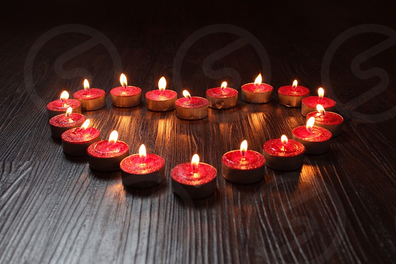 Heart Valentines loveromance candles photo