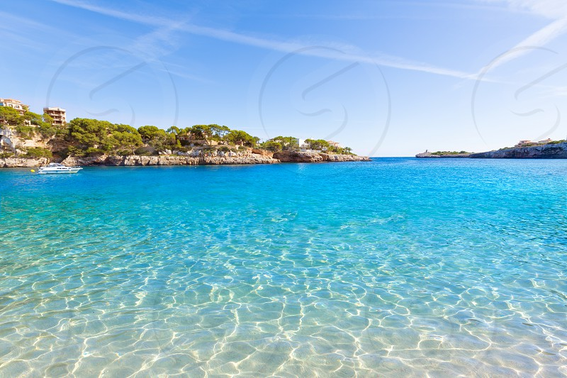 Majorca Porto Cristo beach in Manacor of Mallorca Balearic island at spain photo