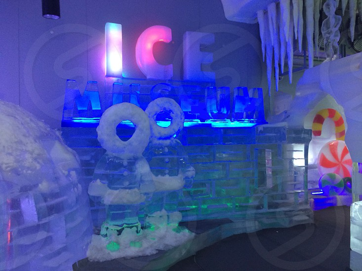 Ice museum #trick eye #Korea photo
