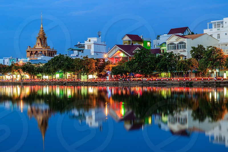 Xang Thoi lake Can Tho City Viet Nam photo