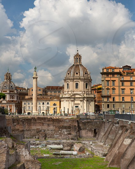 A perfect day in the Roman Forum.  photo