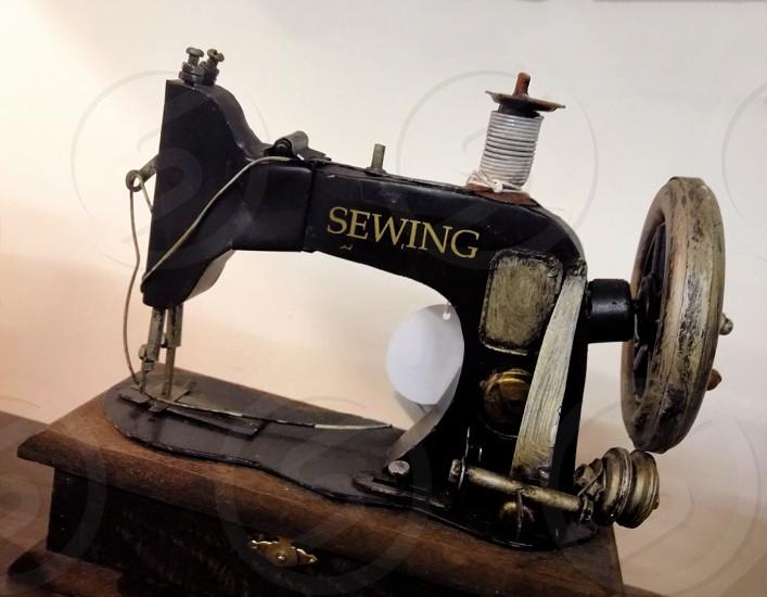 Vintage sewing machine photo