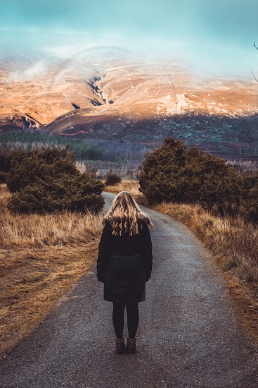 Autumn scene in the Scottish highlands. photo