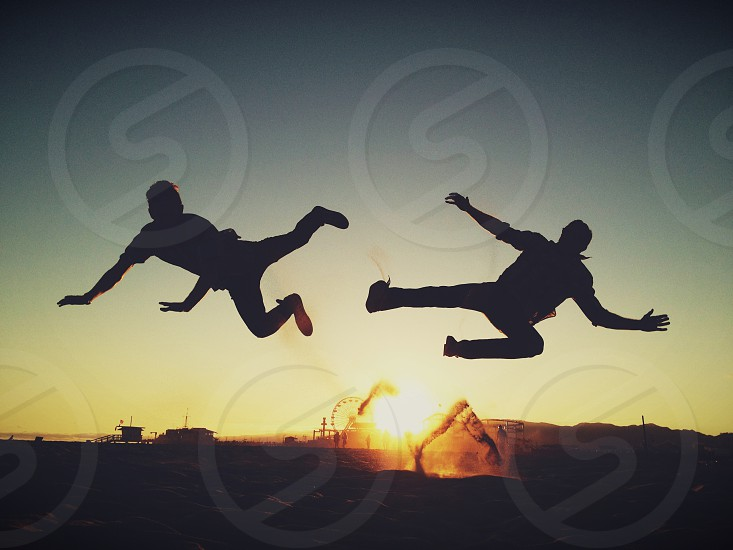 people jumping photo