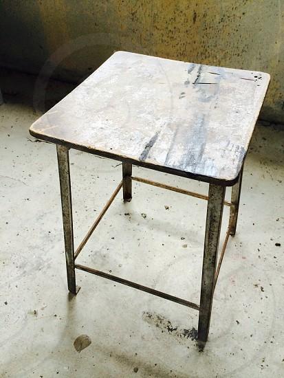 industrial vintage concrete chair photo