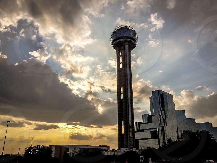 Dallas Texas architecture buildings Sky sunset tower dusk golden hour  photo