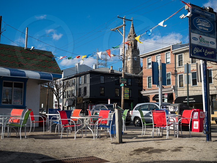 Outdoor seating on Main Street in Manayunk photo