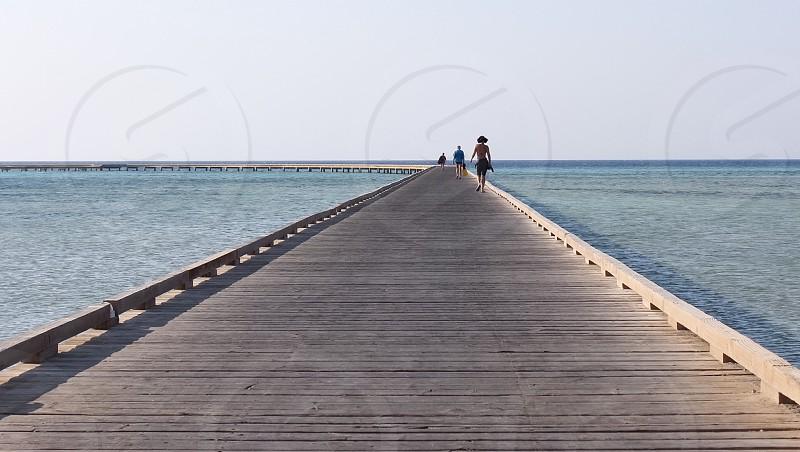 Soma Bay Egypt. August 2014. Off to go SCUBA diving photo