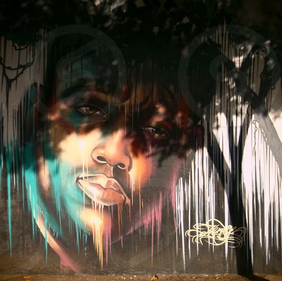 human face graffiti photo