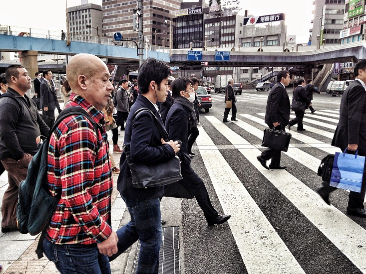 Tokyo streets morning peak hour... photo