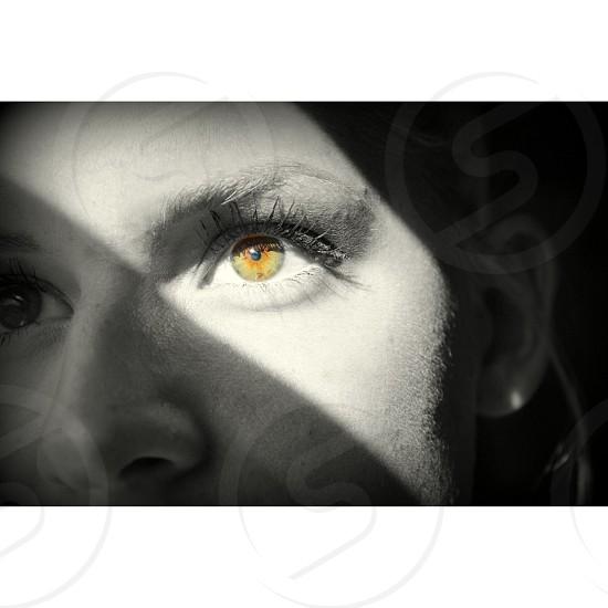 Sunlight in eyes photo