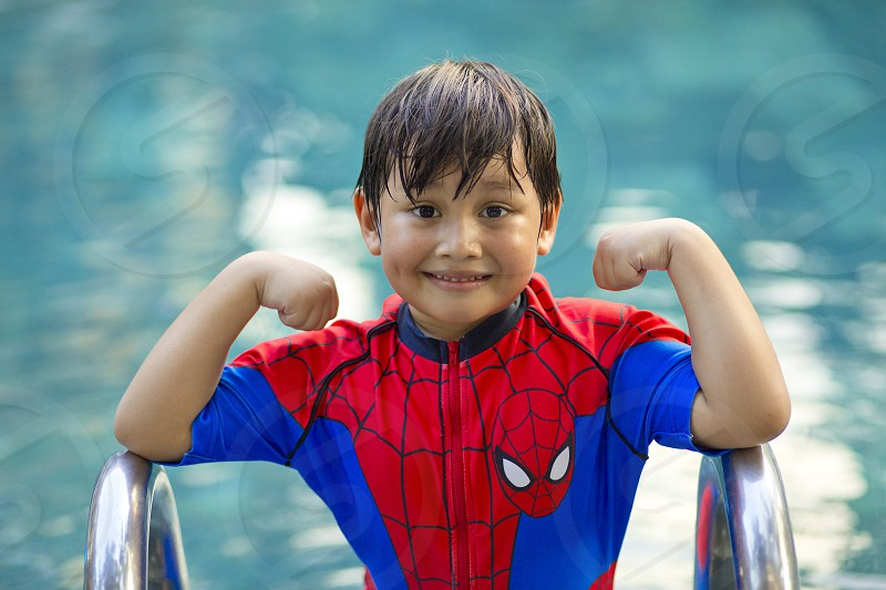 kid superhero photo