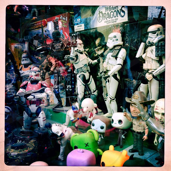 storm troopers near bobble heads in store photo