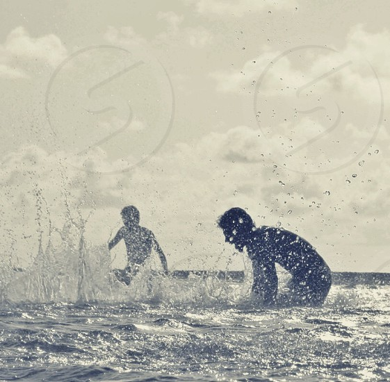 two people on water photo