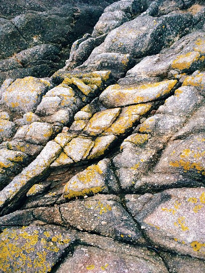 yellow and grey stone formation photo