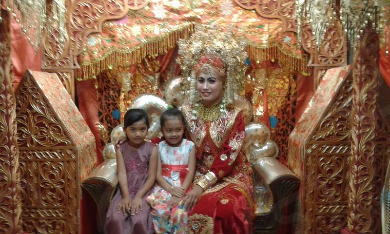 happy wedding sumatera barat. photo