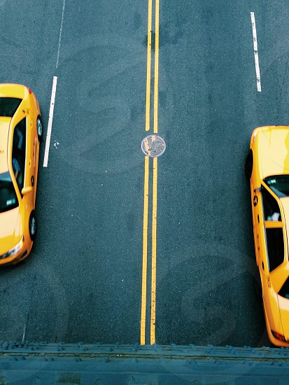 yellow taxi photo