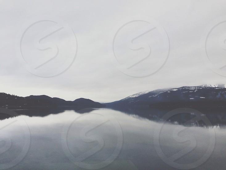 lake and mountain view  photo