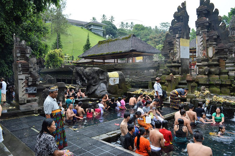 Holy Water temple in Bali photo