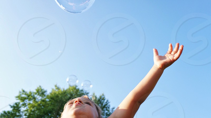 Bubbles Toddler Summertime photo
