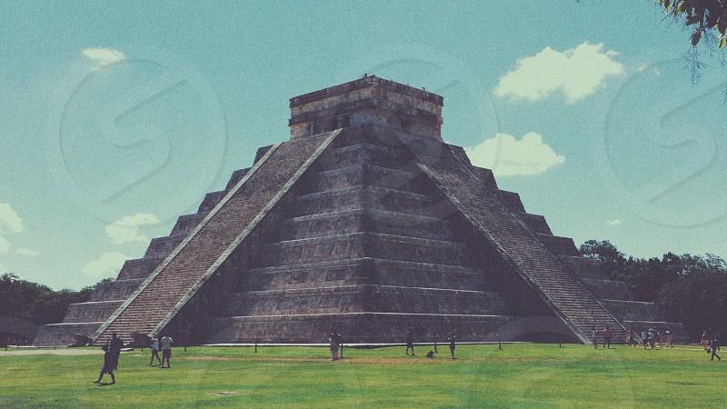 Mayan temple photo