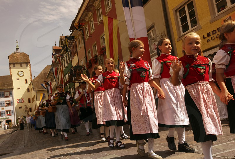 a traditional festival in the old town of Waldshut in the Blackforest in the south of Germany in Europe. photo