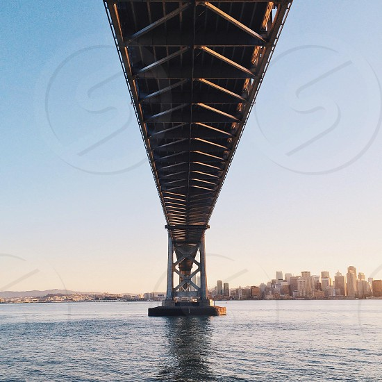 under the bridge view photo