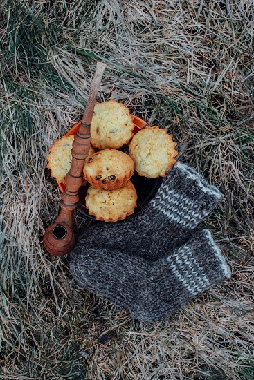 Winter sweets on the grass photo